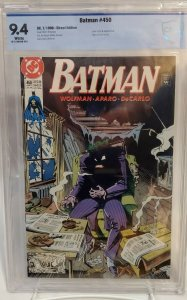 Batman #450 - CBCS 9.4 - NM - White Pages - Joker - Norm Breyfogle Cover