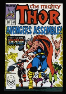 Thor #390 NM 9.4 Captain America Wields Thor's Hammer!