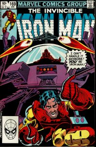 Iron Man #169 - VF/NM - KEY - Rhodes replaces Tony Stark