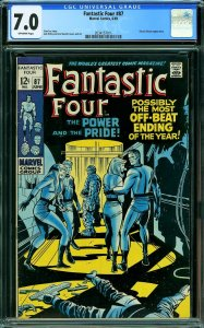 Fantastic Four #87 (Marvel, 1969) CGC 7.0