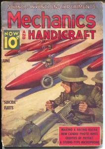 Mechanics and Handicraft 6/1938-Better-Nedor comics publisher-suicide fleet-VG