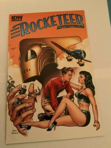 ROCKETEER ADVENTURES #2 SET OF FOUR COVERS COLOR AND SKETCH NEAR MINT.