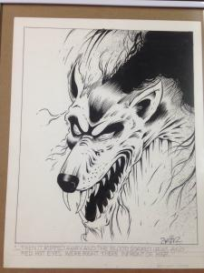 Matt Smith Snarling Wolf Pencil/Ink sketch