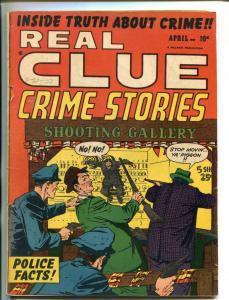 REAL CLUE CRIME STORIES VOL 6 #2 1951-HILLMAN-VIOLENT PRE-CODE CRIME-MC CANN-vg