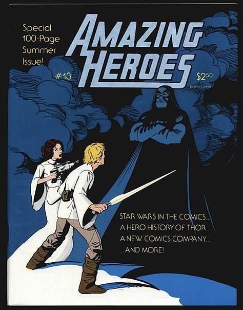 AMAZING HEROES 13 F-VF NOWLAN CVR,HISTORY OF THOR, STAR