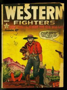 Western Fighters #12 1949- Sam Houston- Golden Age- FAIR