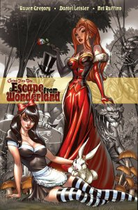 GRIMM FAIRY TALES  ESCAPE FROM WONDERLAND & NEVERLAND HARDCOVER SET.