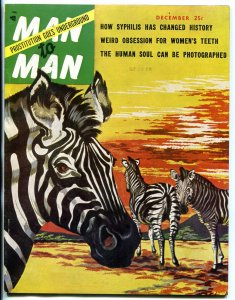 Man to Man Magazine December 1953- MAILA NURMI- Lil Cocaine- Syphilis
