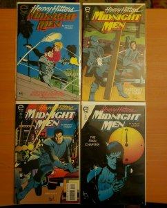 Heavy Hitters Midnight Men 1-4 Complete Set Run! ~ NEAR MINT NM ~ 1993 Epic