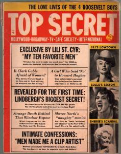 Top Secret #8-Summer 1954-Charlton-Lili St Cyr-Jane Russell-Nazis-Sinatra-VG