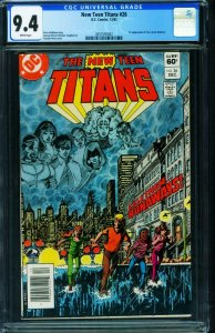 The New Teen Titans #26 CGC 9.4 First TERRA 1982 2057591007