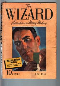 THE WIZARD 1940 DEC-#2-STREET AND SMITH PULP-RARE G