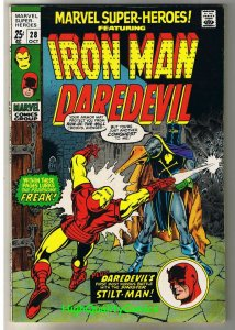 MARVEL SUPER-HEROES 28, VF-, Iron Man, Daredevil, 1968, more in store