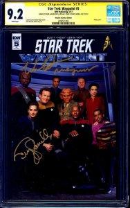 Star Trek Waypoint #5 PHOTO VARIANT CGC SS signed x3 Farrell Dorn Auberjonois