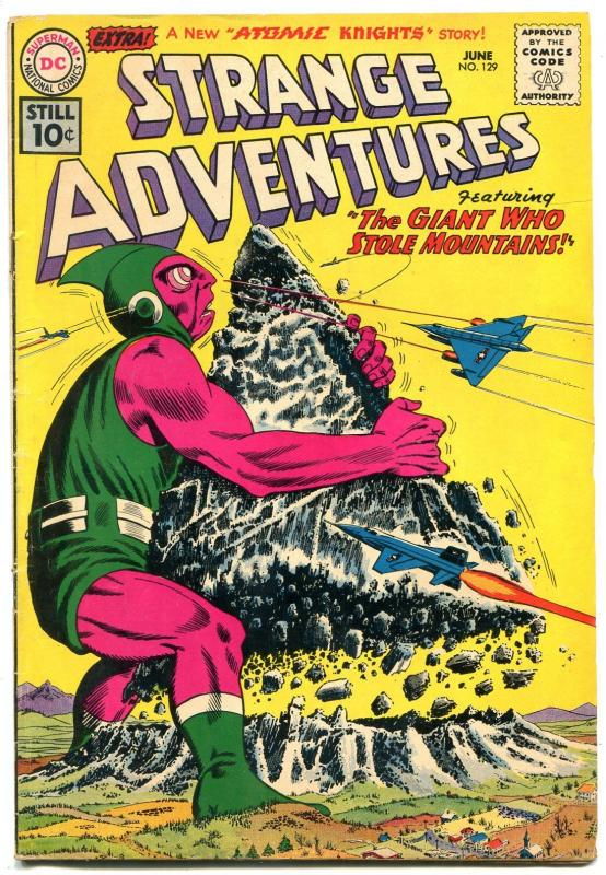 Strange Adventures #129 1961- Atomic Knights- DC Silver Age Sci-fi VG