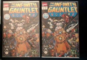 2- Infinity Gauntlet #1-1991 NM  Thanos Starlin Perez MARVEL Variant Cover NM