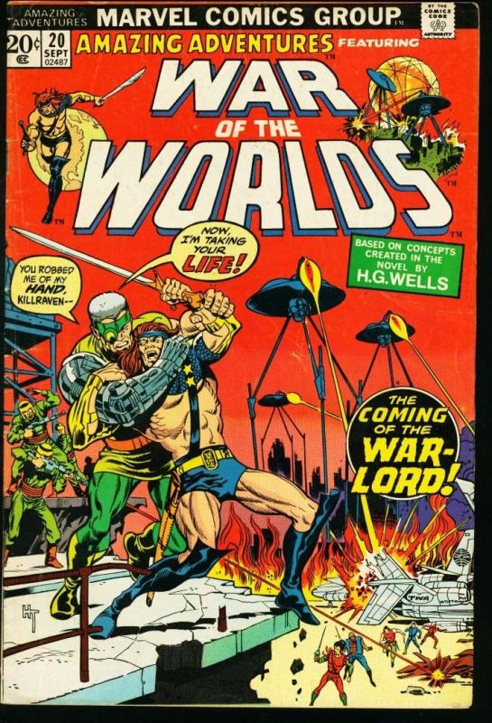 AMAZING ADVENTURES #20-WAR OF THE WORLDS VG