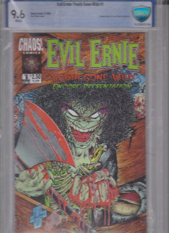 EVIL ERNIE: YOUTH GONE WILD ENCORE PRESENTATION CBCS 9.6 WHITE 1996