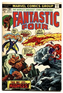 FANTASTIC FOUR #138 comic book-1973-High Grade NM-
