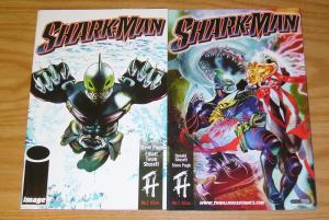 Shark-Man #1-2 VF/NM complete series - steve pugh - image comics set lot 2006