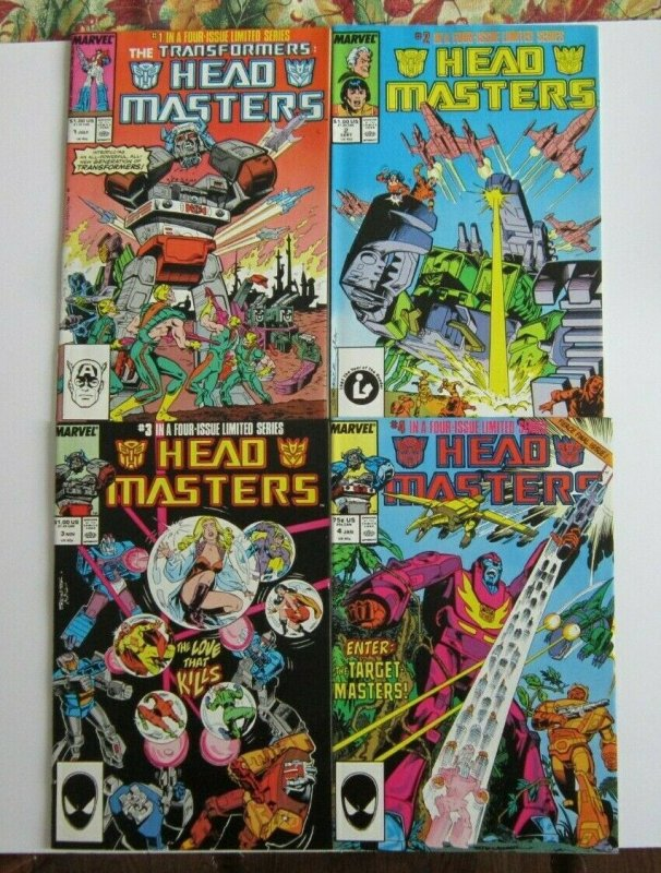 The Transformers: Head Masters #1-4 Complete Set FN/VF 1st Print Marvel 1987