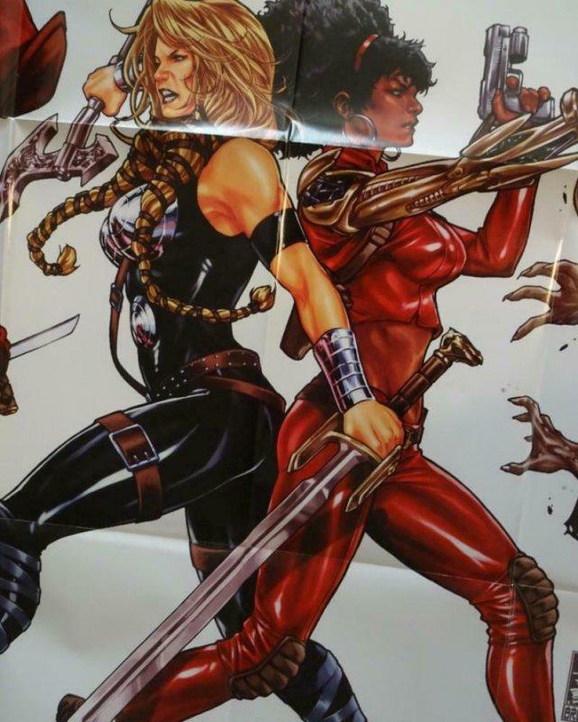 FEARLESS DEFENDERS Promo Poster, 24 x 36, 2012, MARVEL, Unused 277