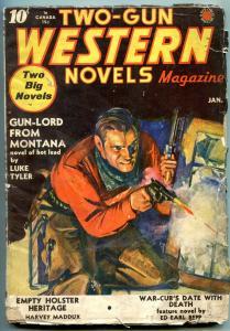 Two-Gun Western Novels January 1941- Gun-Lord from Montana G/VG