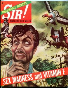 Sir! Magazine August 1954-VULTURE ATTACK CVR-BOXING-WITCH DOCTORS FN