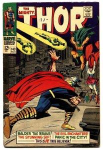 THOR #143 comic book 1967 MARVEL COMICS BALDER THE BRAVE KIRBY ART FN