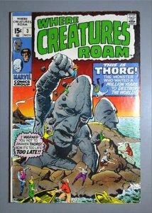 Where Creatures Roam (1970 Series)  #3 VG  Actual Photo
