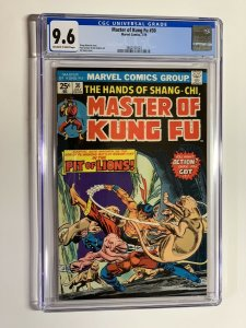Shang-chi master of kung fu 30 cgc 9.6 ow/w pages marvel bronze age 023