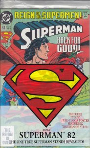 Superman (2nd Series) #82 (with poster) VF/NM; DC | save on shipping - details i