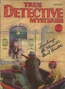 TRUE DETECTIVE MYSTERIES-AUG1929--MURDER-VICE-ROBBERY-RAPE-POISON-good/vg G/VG