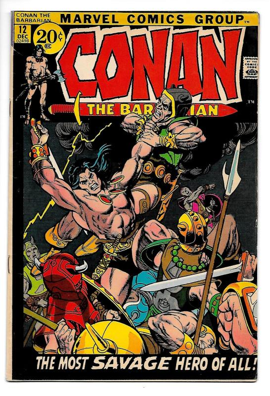Conan the Barbarian #12 (Marvel, 1971) FN/VF