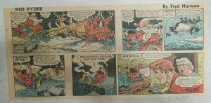Red Ryder Sunday Page by Fred Harman from 12/21/1958 Third Page Size! Western