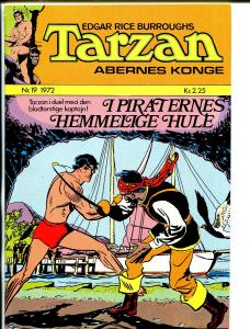 Tarzan #19 1972-Edgar Rice Burroughs-pirate sword fight-VF