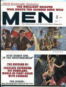 Men Magazine November 1961-A-BOMB/CIVIL WAR PAIN/OFF-BEAT WOMEN FN/VF