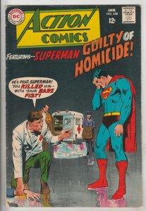 Action Comics #358 (Jan-68) FN- Mid-Grade Superman