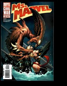 Lot Of 9 Ms. Marvel Comics 2 3 4 5 6 7 8 9 10 Civil War feat. Rogue Warbird SM1