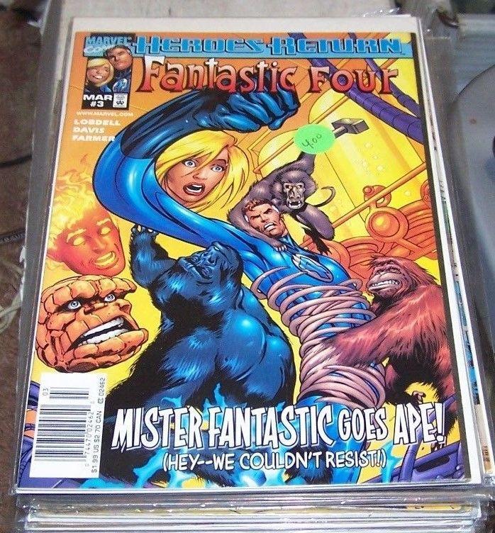 Fantastic Four # 3 (Jan 1997, Marvel) heroes return apes