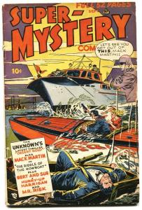 Super-Mystery Vol. 8 #1 1948-The Unknown-Mr Risk-Late issue