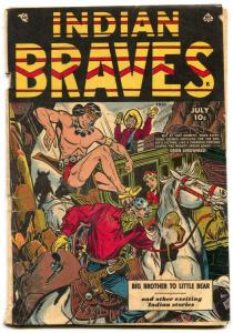 Indian Braves #3 1951- Ace Western- Canadian edition G/VG