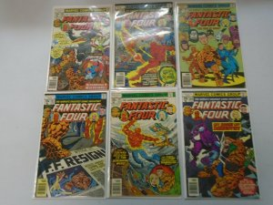 Fantastic Four lot 17 different 35c covers from #188-204 avg 4.0 VG (1977-79)