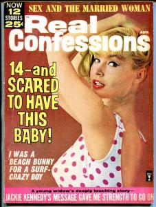 Real Confessions 8/1964-Sterling-Jackie Kennedy-beach bunny-exploitation-VG/FN