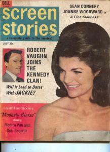 Screen Stories-Jackie Kennedy-Steve McQueen-Sean Connery-July-1966