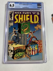 Nick Fury Agent Of Shield 1 Cgc 6.5 Ow Pages Silver Age Marvel