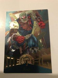 RAGE #68 card : Marvel Metal 1995 Fleer Chromium; NM/M New Warriors, X-Men base