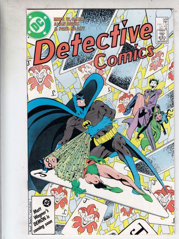 Detective Comics #569 (Dec-86) NM- High-Grade Batman, Robin the Boy Wonder