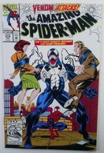 Amazing Spider-man 374 VENOM Cover High Grade, Marvel 1993 Mark Bagley