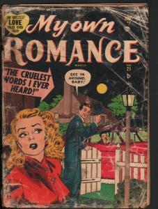 MY OWN ROMANCE #21 1952-ATLAS-MARVEL-GOLDEN AGE